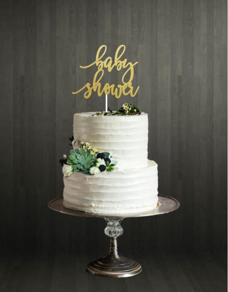 Baby Shower - Cake Topper - Gold